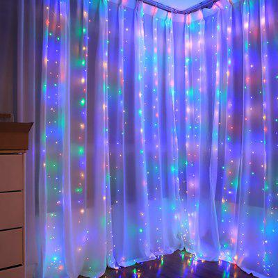 300 LED 3 x 3m USB Star Light String Curtain Light Music Remote Control Christmas Outdoor Festival Wedding Decorative Lamp String