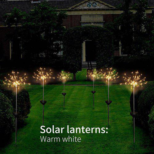 Led Outdoor Lamp Warm White Solar Lawn