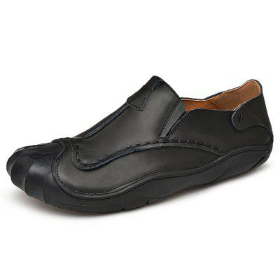 AILADUN Genuine Leather Men Shoes Slip On Outdoor Sports Leisure Footwear