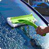 Household Telescopic Rod Sided Glass Wiper Window Cleaner Scraping Brush Cleaning Tool - GREEN