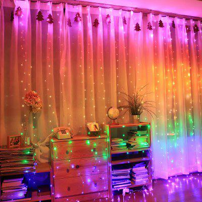280 LEDs Curtain Lights Creative USB Sound Music Copper Curtain Lamp LED Bedroom Decorative String