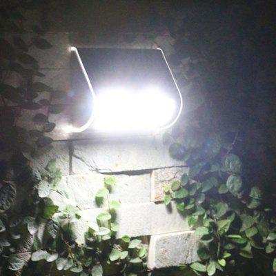 9 LEDs Stainless Steel Solar Wall Lamp Courtyard Lights Outdoor Waterproof Integrated Street Lamps