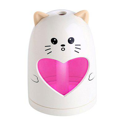 Ultrasonic Cute Cartoon Shaped Air Humidifier Mute Colorful USB Night Light for Home Office Car