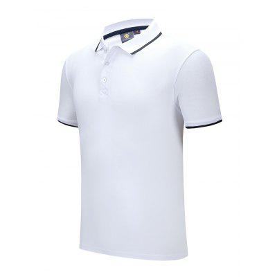 Men Summer Short-sleeved T-shirt Male Golf Turn Down Collar Shirt Casual Comfortable Sports Clothes