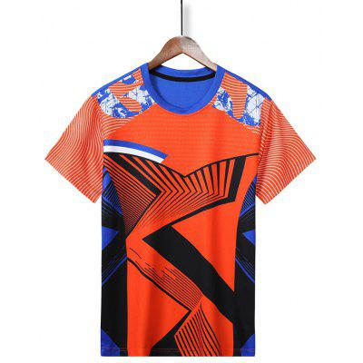 Men Badminton Sports Shirt Summer Short-sleeved T-shirt Quick Drying Male Table Tennis Clothes
