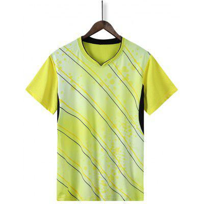 Quick-drying Summer Men Sports T-shirts Badminton Table Tennis Male Sportwear Short-sleeved Clothes