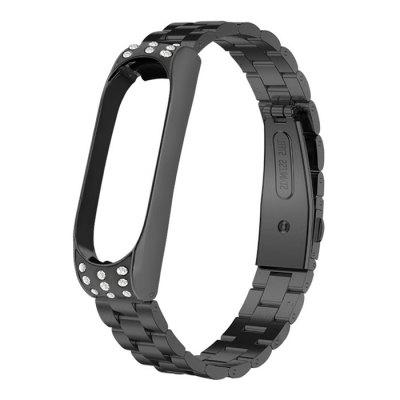 Replacement Wristband Strap Diamond Band Stainless Steel for Xiaomi Mi Band 3 / 4