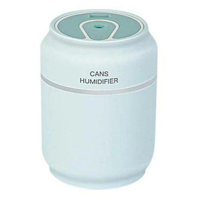 3 in 1 Canned Air Humidifier USB Car Small Fan Essential Oil Aromatherapy Diffuser with LED Light