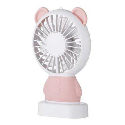 Cute Bear Shaped Handheld Mini Fan Portable LED Air Cooling Fans with Strong Wind 800mAh Battery USB Charging