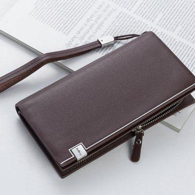 Mannen Lange Wallet Multifunctionele Clutch Man PU Handbag kaarthouder Bag