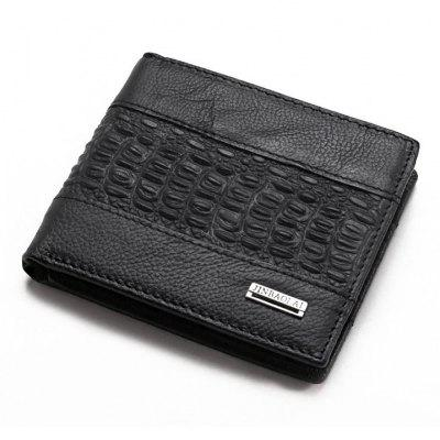 Leren heren Wallet Crocodile Pattern Man Kort Geldzak Card Holder Purse