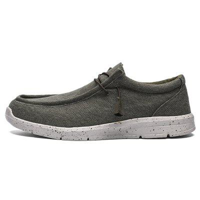 AILADUN Ultra-light casual schoenen Grote Maat Canvas Lazy Men Shoes Misstap van Footwear
