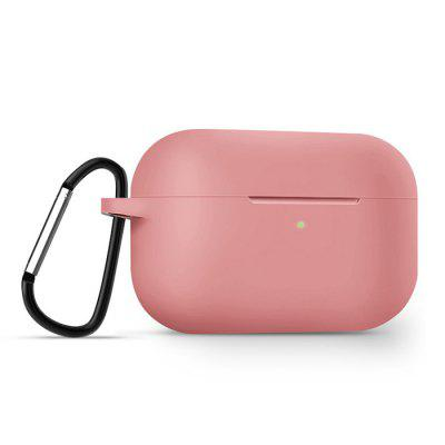 Headphone Soft Silicone Protective Cover Carrying Shell Cover voor Airpods Pro Solid Color