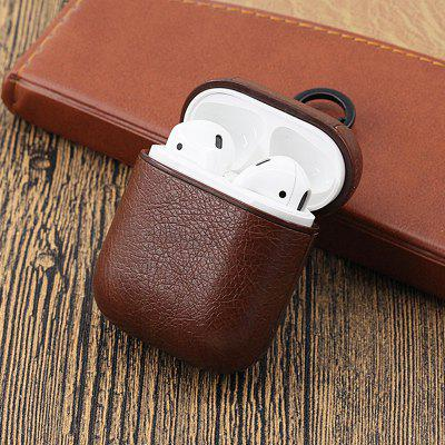 Headphone Leather Protective Case Carrying Cover Sleeve for AirPods 1 2 Storage Box with Hook