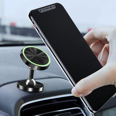Universal Car Phone Holder Metal Ball Stand for Mobile Phone Vehicle Luminous Magnetic Alloy Stent 360° Rotation