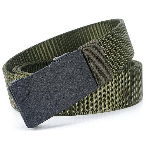Fashion Men/'s Unisex Casual Double D-Ring Striped Waist Waistband Canvas Belt Q