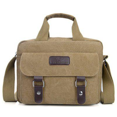 Mannen Briefcase Handbag Dwarsdoorsnede grote capaciteit Shoulder Messenger Bag Casual Retro Canvas Pack