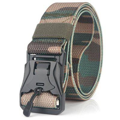 Men's Outdoor Tactical Belt Military Camouflage Nylon Waistband with Magnetic Clasp