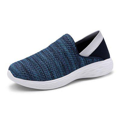 AILADUN Fashion Men's Spring Breathable Flyknit Solid Color Sports and Casual Shoes