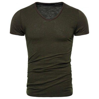 Men Bamboo Cotton Short-sleeved T-shirt