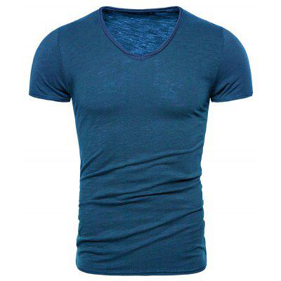 The New Explosion Models Cotton Bamboo Cotton Short-sleeved T-shirt Men
