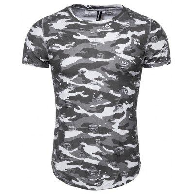 Cotton Printing Summer Men's Short-sleeved T-shirt
