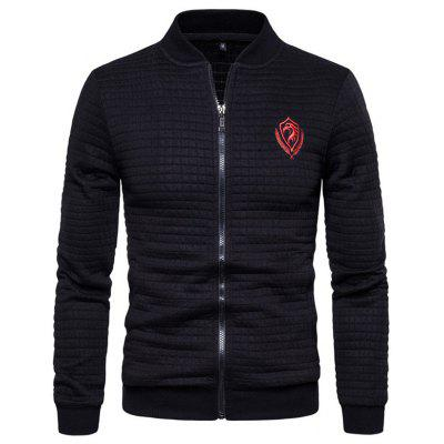 Spring Mannen rits trui Jacket Man Stand-up Collar