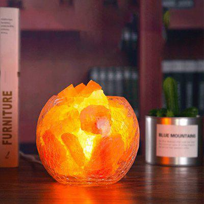 BRELONG Himalayan Salt Rock kryształowe dekoracje Table Lamp Night Light
