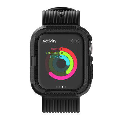 Anti-fall Silicone Integrated Strap with Protective Case for Apple Watch