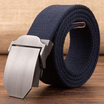 Heren Outdoor Canvas Belt Verlengde effen kleur Doek Automatic Buckle Waistband