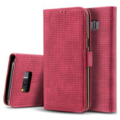 Retro Mesh Breathable Horizontal Flip Leather Fitted Phone Case With Card Slot Holder Wallet Photo Frame For Samsung Galaxy S8plus