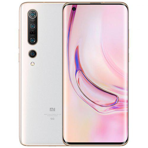 Gearbest Xiaomi Mi 10 Pro 6.67 Inch 5G Smartphone 120Hz Snapdragon 865 X55 Octa Core 108MP Penta Camera 4500mAh Battery Global Version - White 8 + 256GB