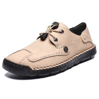 AILADUN Men Shoes Low-top Round Toe Casual Footwear Breathable Handmade Big Yards