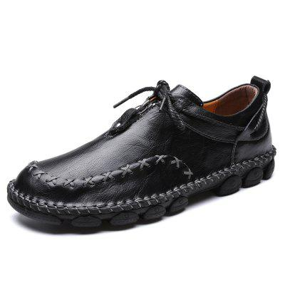 AILADUN Men Shoes Low-top Lace-up Outdoor Footwear Handmade Big Yards
