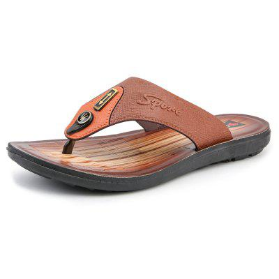 AILADUN Summer Leather Slippers Men Casual Sandals