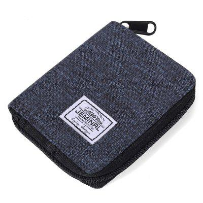 Men Wallet Classic Canvas Študent Zip Vertical European American mince peňaženku