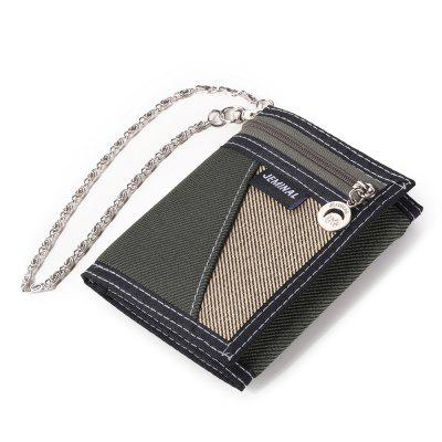 Men Wallet Classic Color Sports Style Multi-card Anti-theft Purse