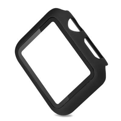 Wristwatch Protector 360 Degree Anti-drop PC + Tempered Glass Screen Protector for Apple Watch