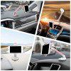 Nice 360-degree Long-Handle Folding Phone Holder Car Desktop Stand for Smart Phone and GPS - SILVER