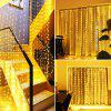 300 LED 3 x 3m USB Star Light String Curtain Light Decorative Music Remote Control Curtains - WARM WHITE