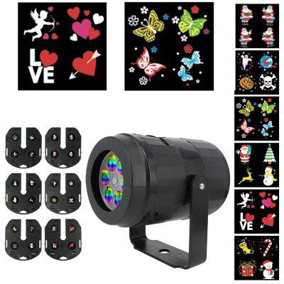 886 12-Card Projection Light LED Interchangeable Card Highlight Pattern Stage Light