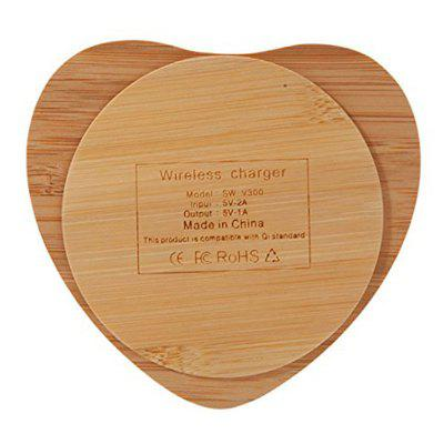 Durable Nice Bamboo-Wood Wireless Charger Charging Pad for iPhone