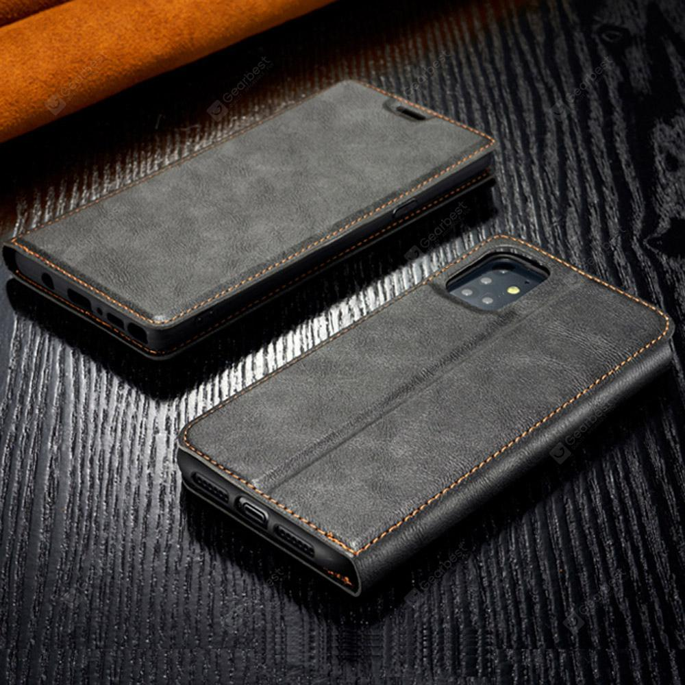Retro Simple Ultra-thin Magnetic Leather Flip Fitted Phone Case for Samsung Galaxy S20 Ultra