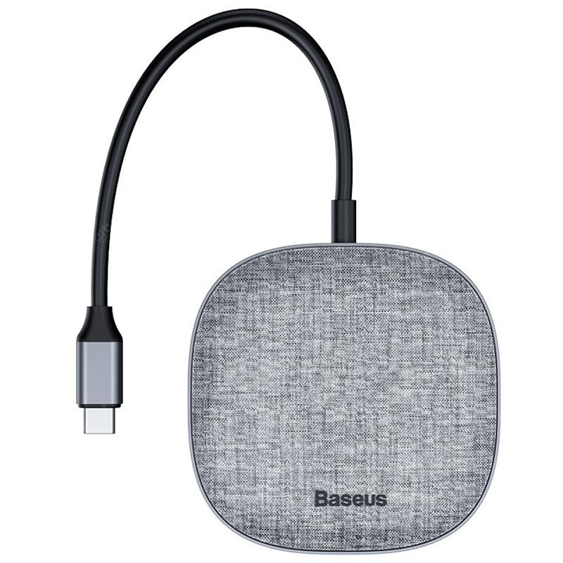 Baseus CAHUB-DX0G 7-in-1 Cloth Fabric USB Type-C Hub Docking Station Adapter