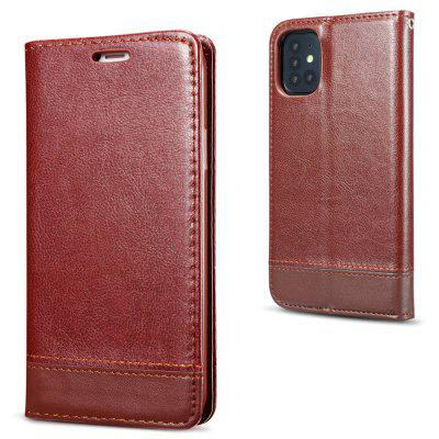 Double-sided Absorption Splicing Horizontal Flip PU Leather Phone Case for Samsung S20