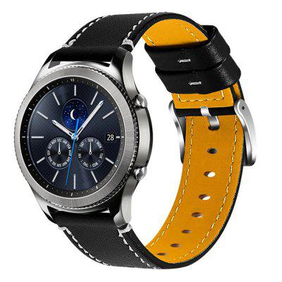 Dermal Smart Watch Edging Cowhide Leather Strap for Samsung Galaxy S3 46mm