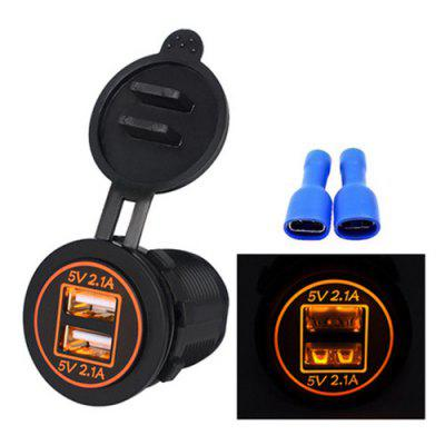Dual USB 4.2A Car Charger Mobiele telefoon Double Aperture oplader voor Auto Motor Motorhome Boat