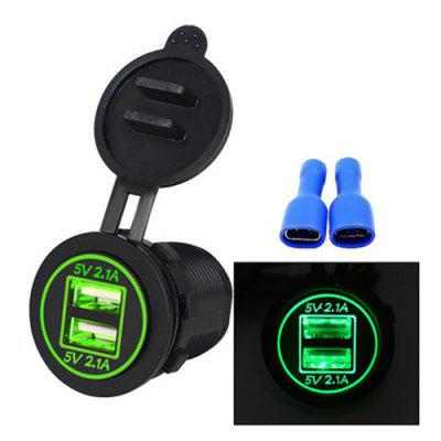 Dual USB 4.2A Car Charger Mobile Phone Double Aperture Charger for Car Motorcycle Motorhome Boat
