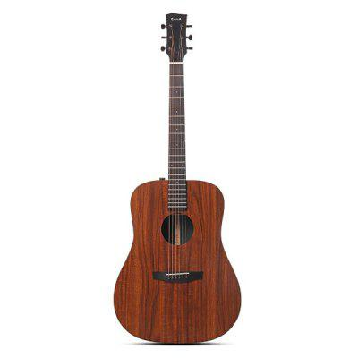 Enya ED-X1 41 Inch D KOA-Patterned Folk Guitar HPL Board Black Richlite Fingerboard Music Instrument