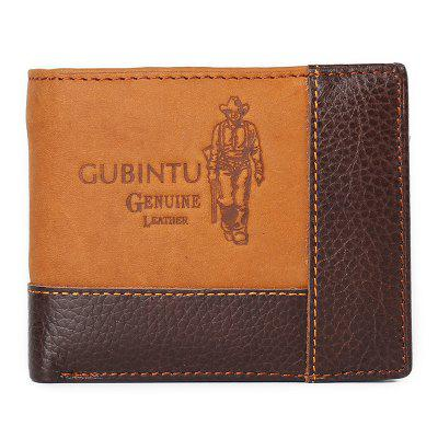 Mens Wallet Creative Personality Stitching Leather Purse Coin Bag Card Holder